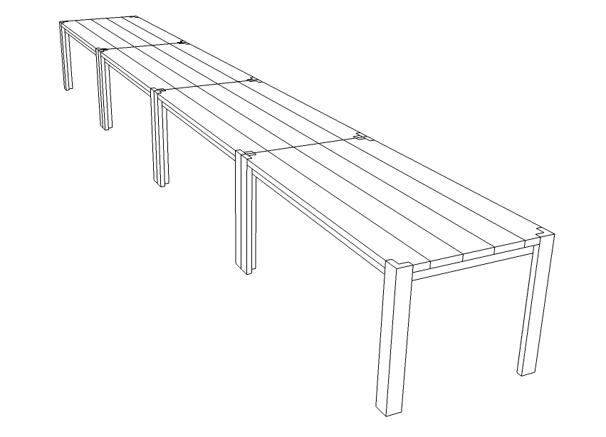 Grandes tables de pin rouge - Table de dessin ikea ...