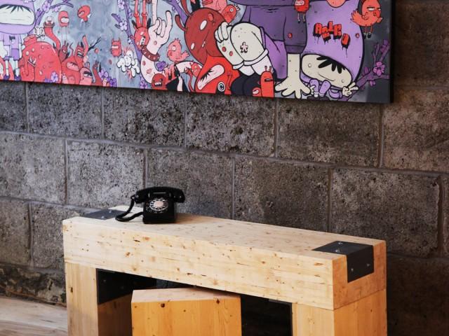 Tables de salon – récupération de chantier