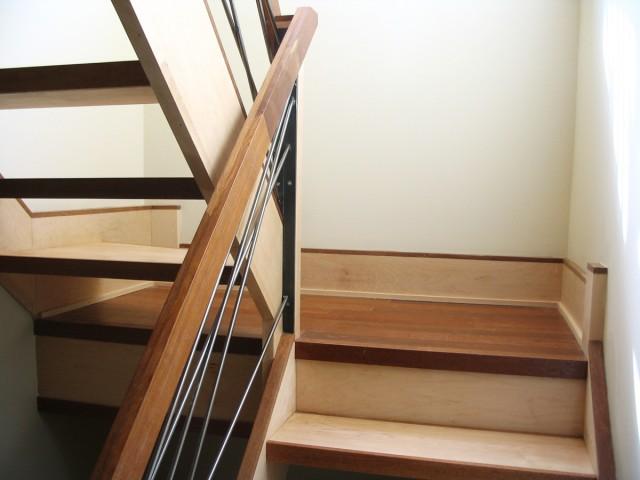 Escalier – Érable, merbeau et acier